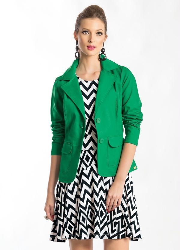 a7dd3aa6eb blazer feminino gola esporte verde. Carregando zoom.