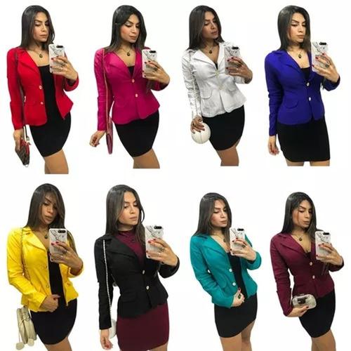 blazer feminino lindas cores a pronta entrega.
