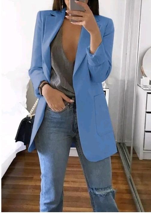 9762c10b984e Blazer Feminino Max Casaco Sarja - R$ 69,00 em Mercado Livre
