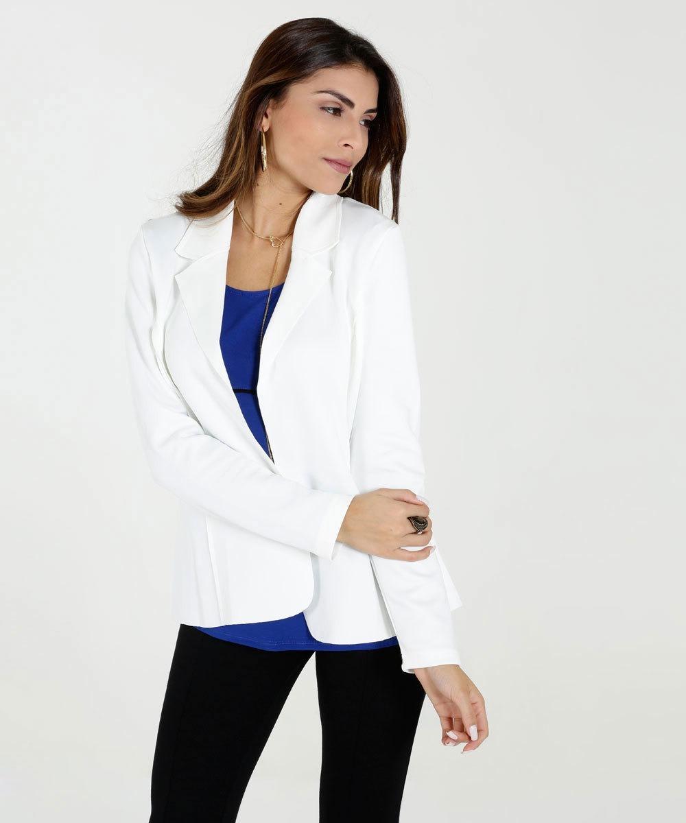 blazer feminino neoprene manga longa marisa -frete gratis. Carregando zoom. 7baa62d6e608f