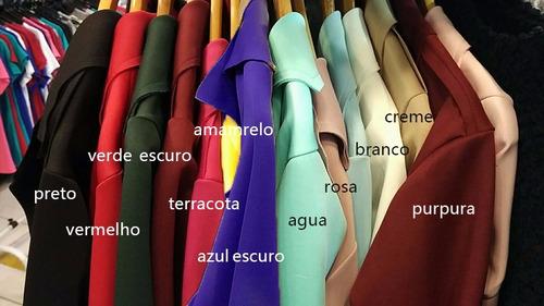 blazer feminino neoprene terninho cores lançamento # b06