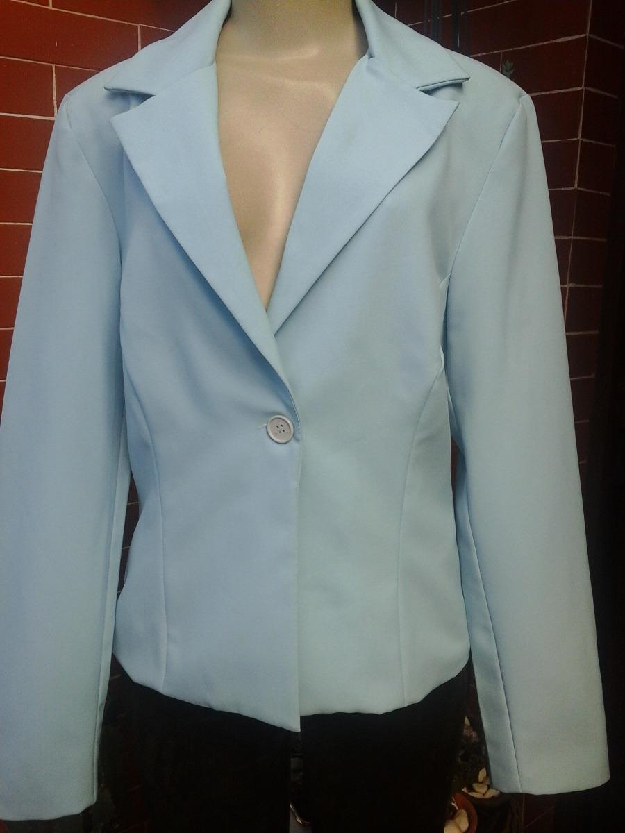 139df06d8f Blazer Feminino Poliéster Azul Claro (yessica) Tamanho 42 . - R  48 ...