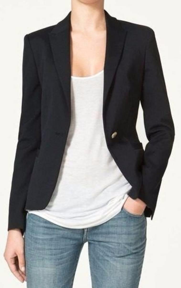 7eb58ef67d blazer feminino preto forrado   casaquinho barato. Carregando zoom.