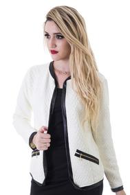 9a414b1327 Blazer Feminino Slim Matelasse Casaquinho Chanel Inverno