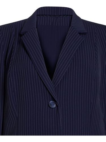 blazer feminino social alfaiataria risca de giz seiki 610052