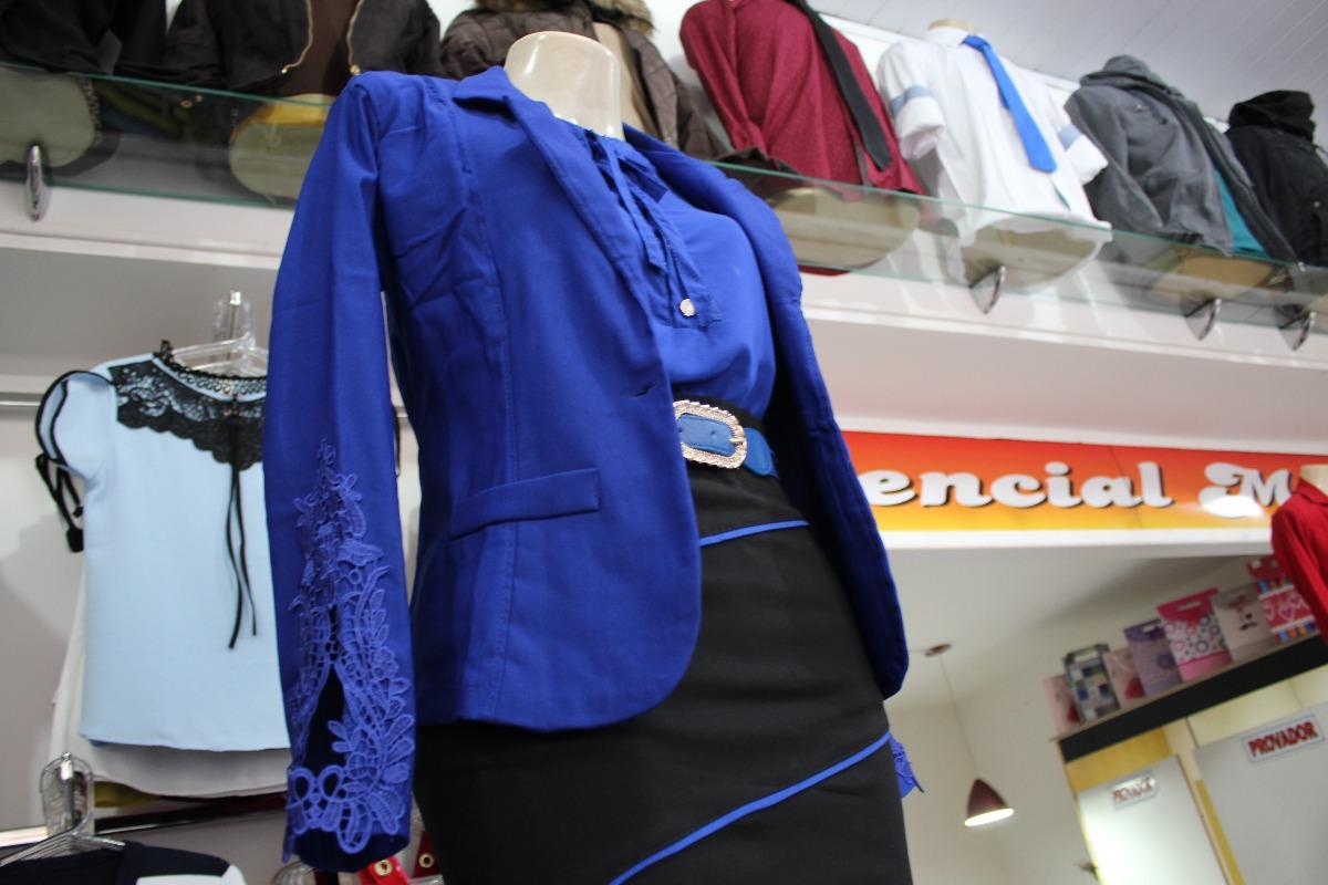 c48d1196f8 blazer feminino social jovem elastano estiloso botão renda. Carregando zoom.