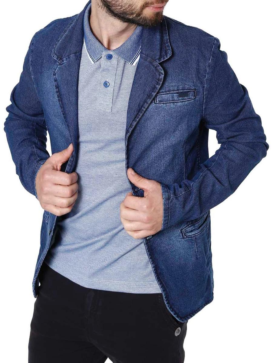 9d337b429 blazer jeans masculino bivik azul. Carregando zoom.