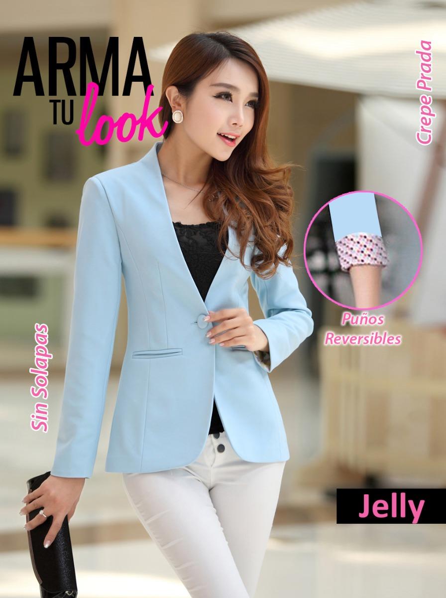 baratas para descuento 6d713 1b100 Blazer Jelly Saco Mujer Fucsia Varios Colores - Arma Tu Look