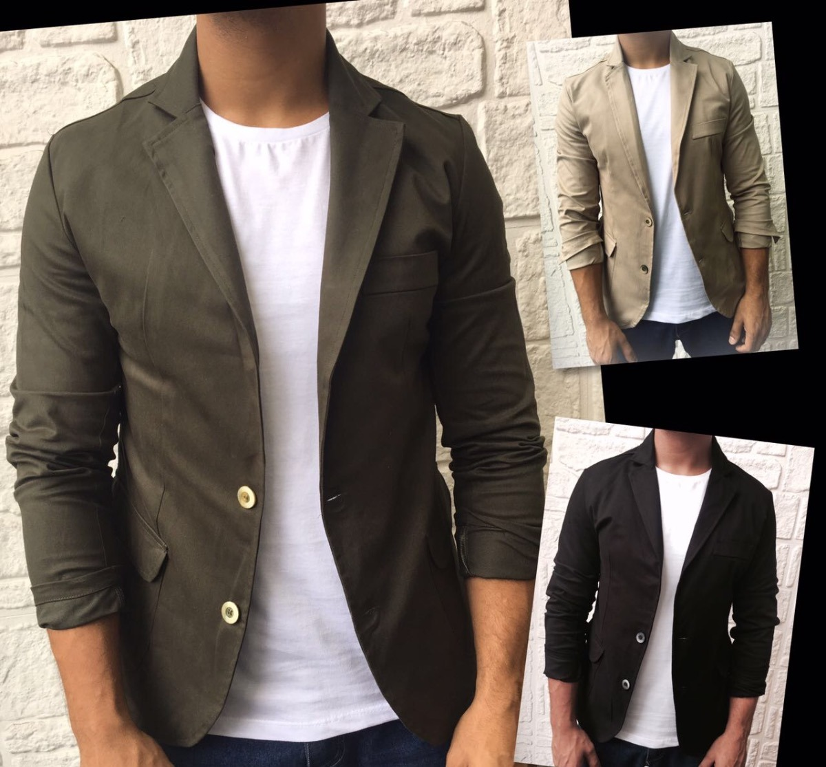 9c5aa9b08e Blazer Masculino Slim Sarja - Alta Qualidade - R  127