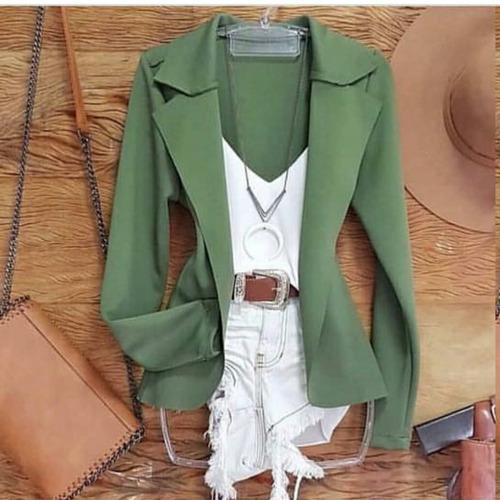 blazer max longo comprido neoprene sobretudo moda feminino