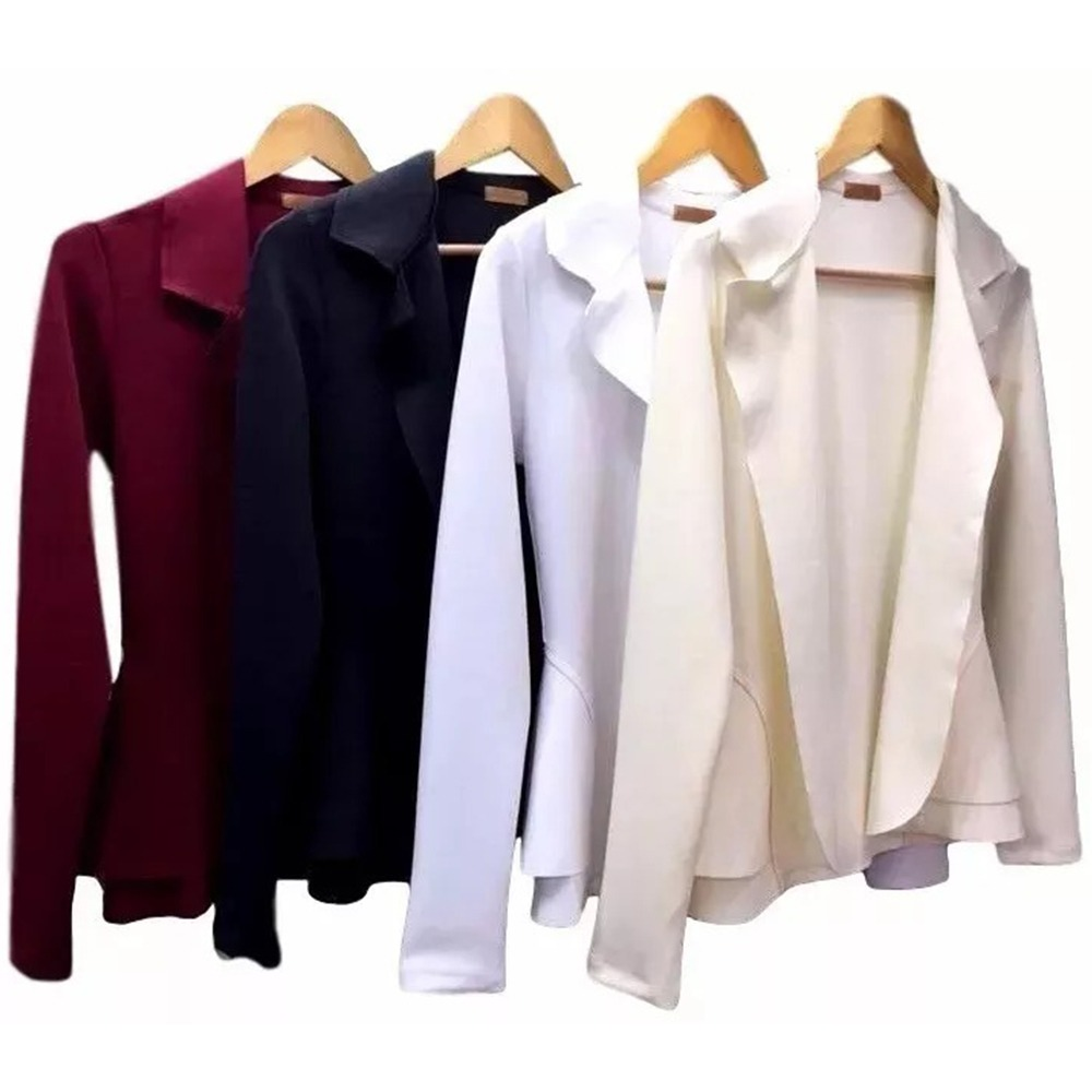 abc48eef70 blazer neoprene casaco terninho feminino frete grátis b. Carregando zoom.
