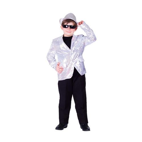 blazer plata lentejuelas - tamaño grande (12-14)