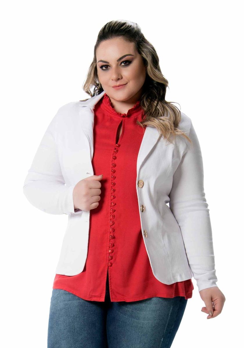 cea0f5ab26 blazer plus size tradicional 3 botões carmella cloo feminino. Carregando  zoom.
