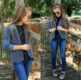 645439ef0 Calça Azul Risca De Giz Feminina - Calçados, Roupas e Bolsas com o ...