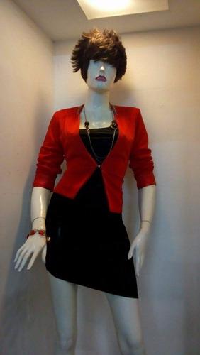 blazer rojo dama