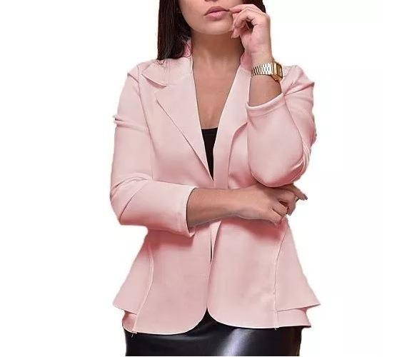 new product 5c309 59a0b Blazer Rosa Feminino