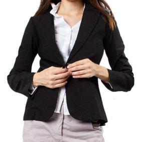 compre los más vendidos mas fiable disponible Blazer Saco Mujer Largo Elastizado Entallado Vestir Negro
