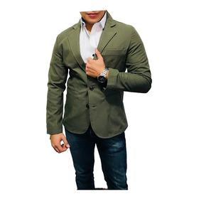 Blazer Saco Peaceful Clothing Slim Fit Color Verde Olivo
