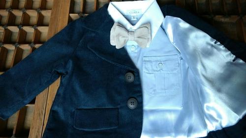 blazer saco traje ropa bautismo varón nene bebe clara clares