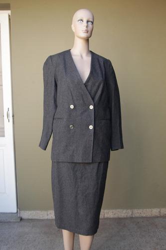 blazer saco trajecito traje de mujer feria americana gris