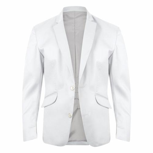 blazer slim fit 2 botones casual hombre drill 8colores forro