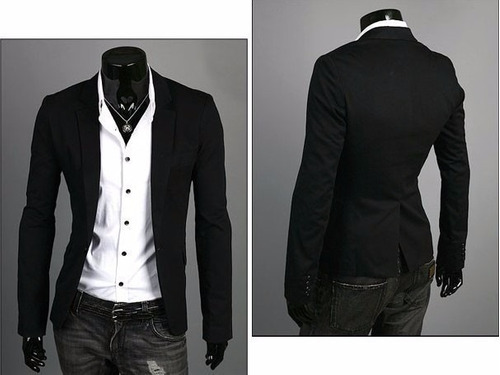 blazer slim fit masculino casual preto a pronta entrega