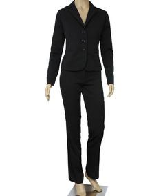 ad35251309 Blazer Terno Terninho Feminino Elegante Preto Kit Com 12