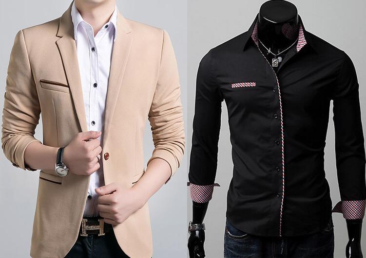 6aadcdda8 Blazer Social Masculino Slim Fit+ Camisa Social Premium - R  189