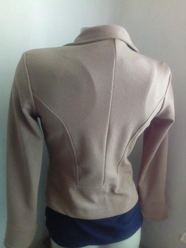 blazer suéter nuevo café beige camel talla m (-7-9) saco