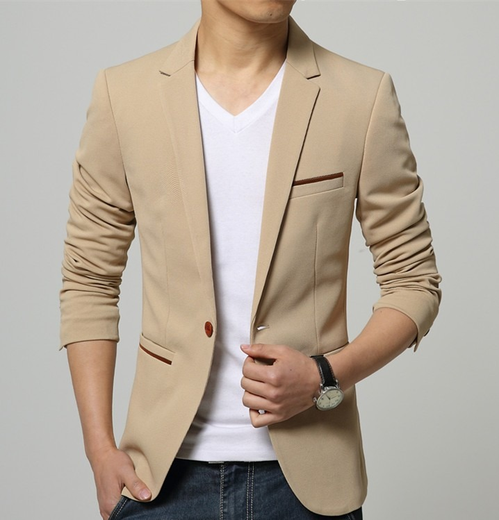 5459dd9eb2 Blazer Terno Casaco Jaqueta Slim Fit Masculino Coloridos - R  288