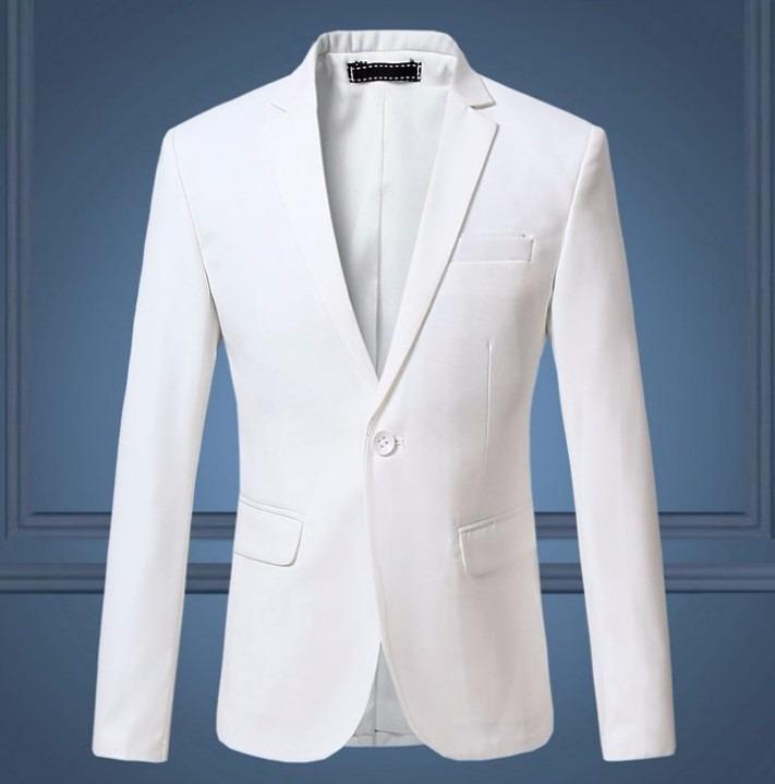a8b96d85b6 Blazer Um Botão Branco Social Sport Masculino Importado - R  299