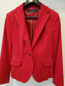Blazer Zara Corderoy Rojo De Color Mujer Kc3uJ5lTF1
