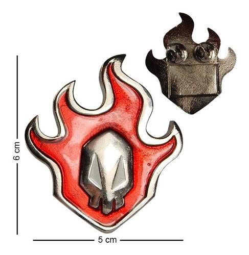 bleach pin logo ichigo hokage flama calavera padrisimo