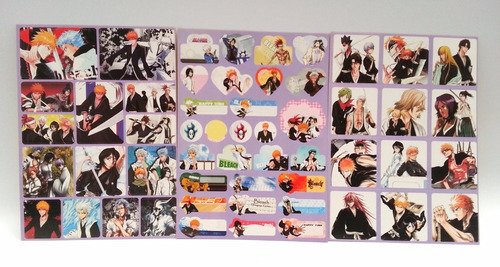 bleach stickers postales coleccionables
