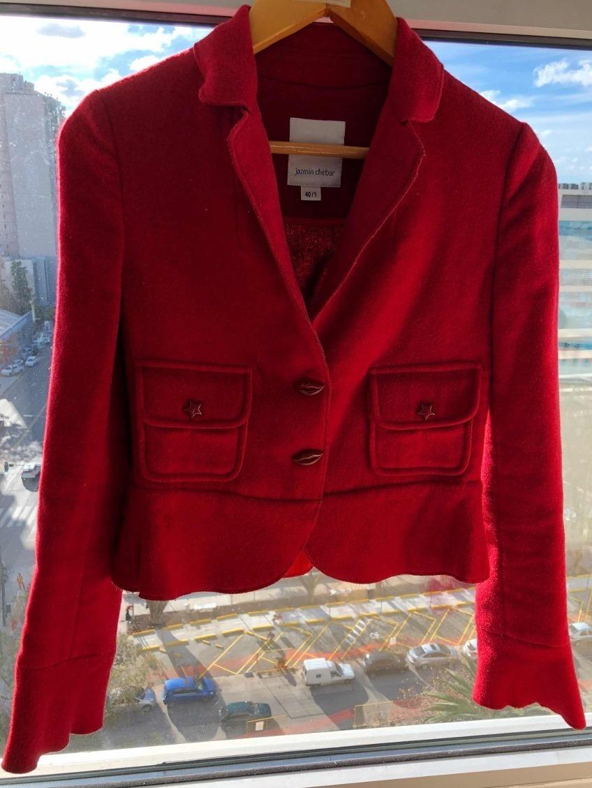 Bleazer Paño De Lana Jazmin Chebar Saco Modelo Actual! Zara ... 917d5665bd67