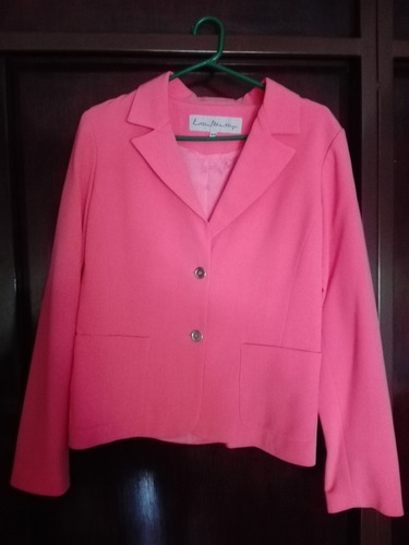 bleizer mujer rosa talle 44 impecable