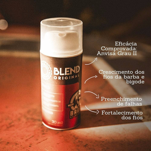 blend barba de respeito 30ml + shampoo ice - original®