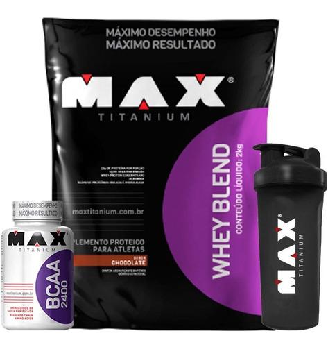 blend proteico + bcaa + shaker - max titanium