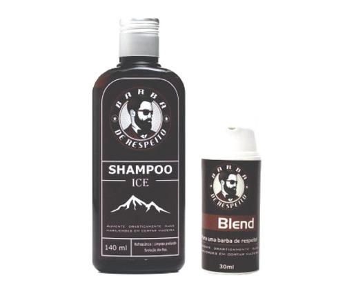 blend + shampoo ice para barba crescimento barba de respeito