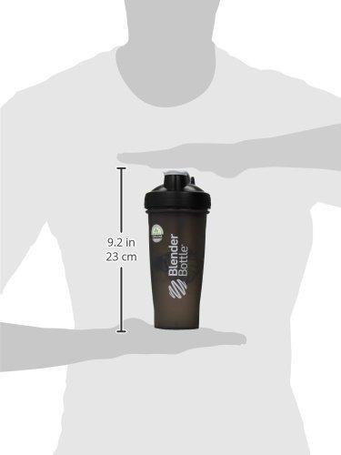 blenderbottle clásico lazo superior shaker botella, negro /