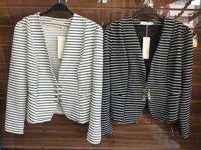 77c795e5d6 Casaco Blazer Listrado Branco E Preto Listra Branca Preta Bp - Casacos no Mercado  Livre Brasil