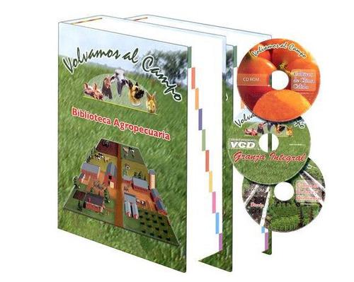 bliblioteca agropecuaria  2 vols + 1 vcd + 2 cd roms  grupo