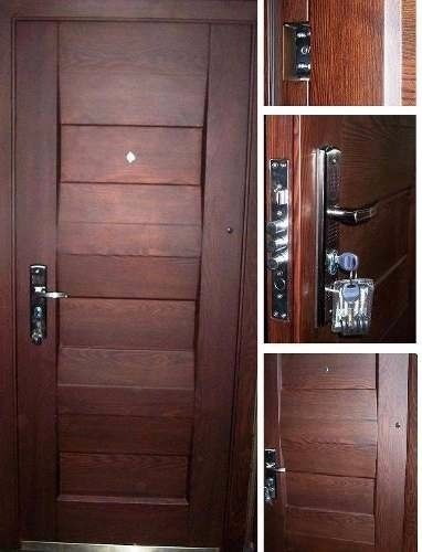 Puerta de acero semi blindada ciega seguridad exterior - Puertas exteriores pvc ...