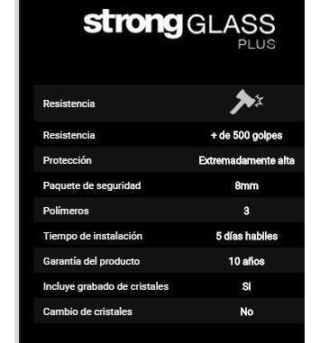 blindaje antivandálico | strong glass | plus