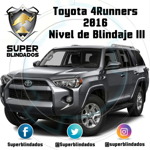 blindaje jeep liberty, toyota, explorer nivel i i i a+plus