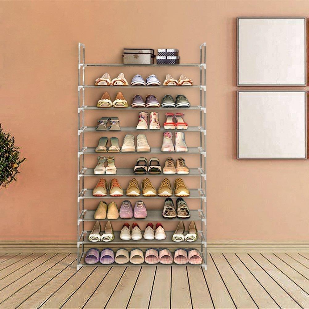 Blissun 10 Niveles Estantería Para Zapatos Tela No Tejida O ... 2838d5b8cdb8