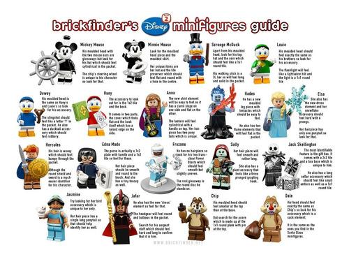 blister 1 mini figura lego disney - lego original nuevo