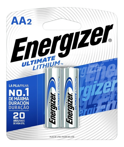 blister 2 pilas litio energizer aa ultimate lithium digital- importadora fotografica - distribuidor oficial energizer