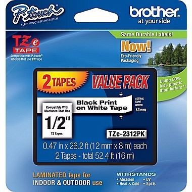 blister con dos cintas laminadas - brother - repuestos