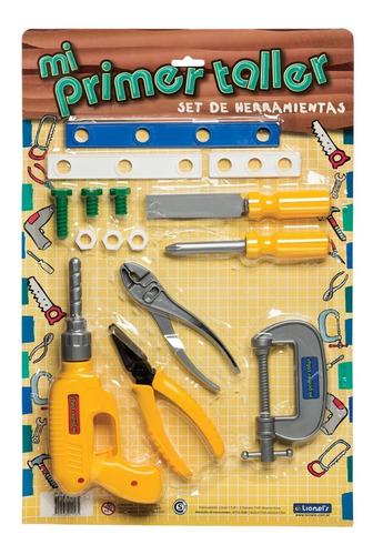 blister con set de herramientas lionels 1156 primer taller